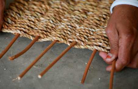 Weaving Seagrass