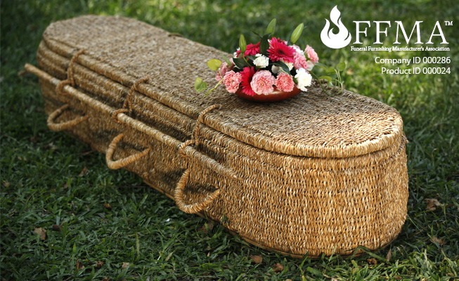 Seagrass Coffin FFMA Company ID#286 Product ID#000024
