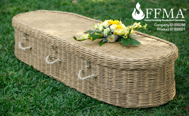 Willow Natural Coffin FFMA Company ID#286 Product ID#000021